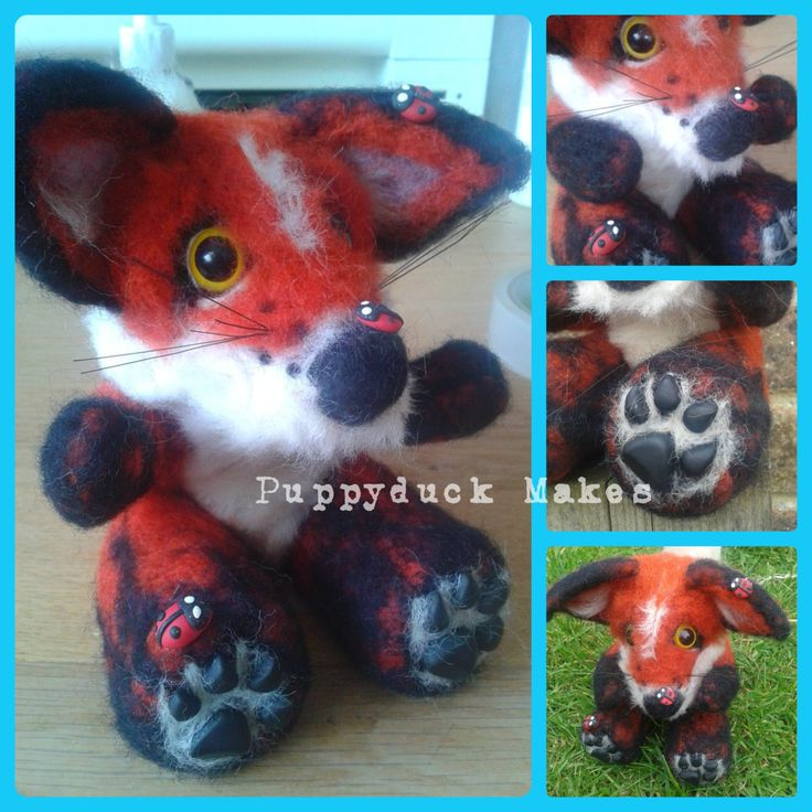 Needle Felt Fox Custom Slot - pinned by pin4etsy.com