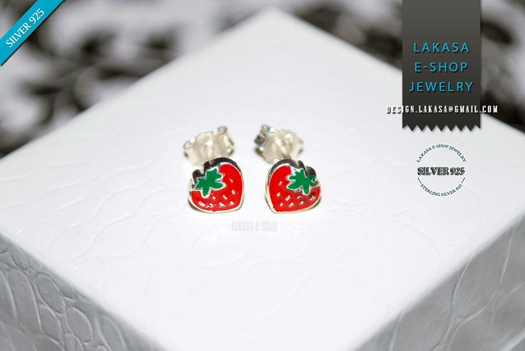 Juicy Strawberry Red Green Enamel Jewelry Stud Earrings Sterling Silver Girl School Kids Collection Moda Fun Color Fruit Cool Best Gift idea #strawberry #earrings #jewelry #enamel #red #joyas #kids #collection #children #school #moda #silver #jewellery #bestideasgifts #birthdaygifts #birthday #παιδι #κοριτσι #παιδικο #κοσμημα #setkids #φραουλα #φρουτα #σμαλτο #κοκκινο #πρασινο #φραουλιτσα #σκουλαρικια