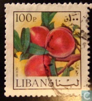 Postzegels - Libanon - Perzikken