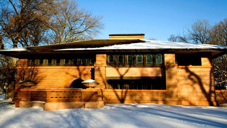 Casa projetada pelo arquiteto modernista norte-americano Frank Lloyd Wright (1867-1959), considerada exemplar do estilo pradaria
