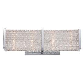 Quoizel Paragon 1-Light 4.5-In Polished Chrome Rectangle Vanity Light Bar Prn8604c