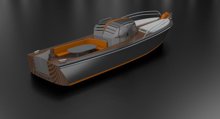 render from three-quarters of the transom