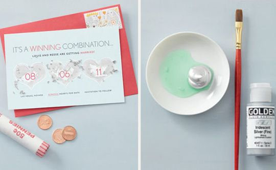 Scratch-Off Paint Cards | 36 Cute And Clever Ways To Save The Date