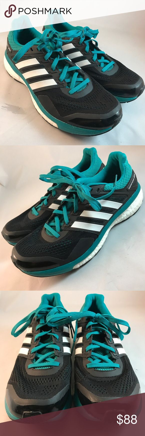 Mint Adidas Glide Boost Teal Black Mens 9.5 43 1/3 Mint Adidas Glide Boost Teal Black Mens 9.5 43 1/3. Worn a few times. No defects All original insoles and laces. Adidas Shoes Athletic Shoes