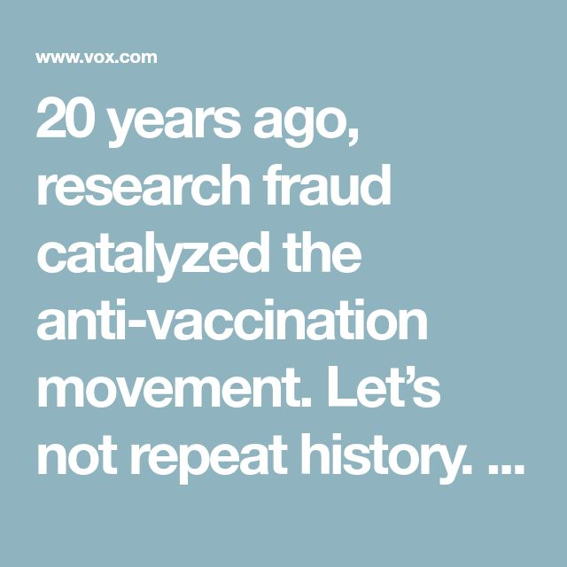 20 years ago, research fraud catalyzed the anti-vaccination movement. Let's not repeat history. How Andrew Wakefield's shoddy science fueled autism-vaccine fears. By Julia Belluz@juliaoftorontojulia.belluz@voxmedia.com Feb 27, 2018, 1:50pm EST