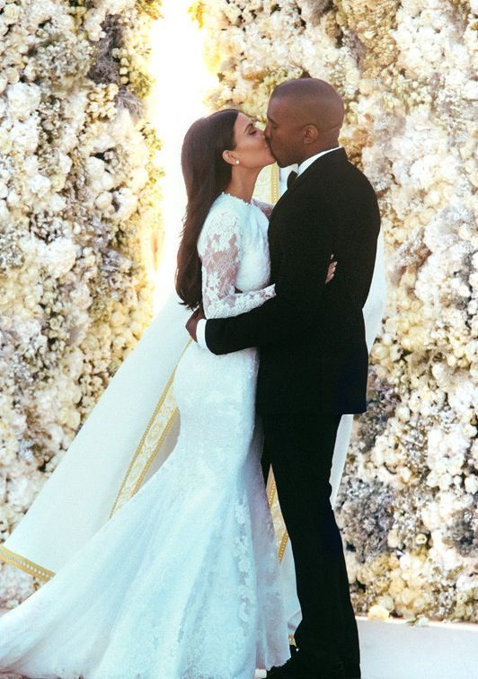 I want a flower wall like Kim and Kanye had at their wedding.