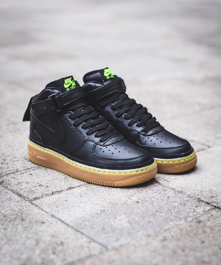 finest selection 45e37 ae5e0 ... Nike Air Force 1 Mid 07 Black Sail 315123-043 Sneakers Shoes Heels  Pinterest Nike ...