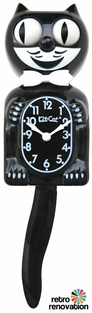 Kit Cat Clock, want this for the house because it's just like our cat Charlie except I think he swishes his tail more!