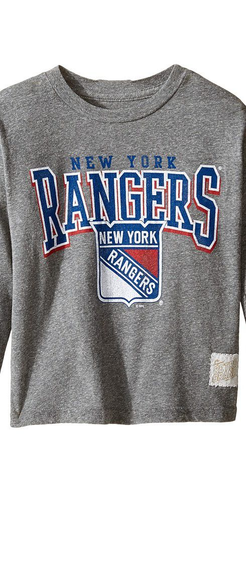 The Original Retro Brand Kids Long Sleeve Tri-Blend New York Rangers NHL  Tee ( 7283e3c9313aa