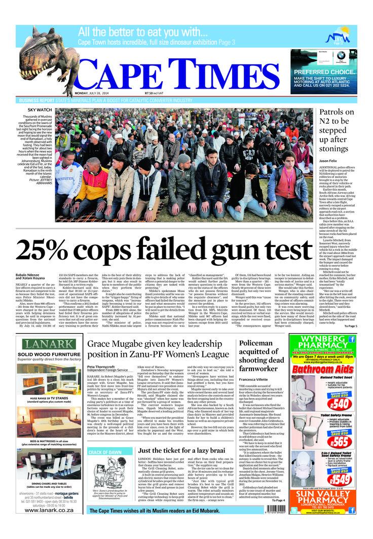 News making headlines: 25% of cops failed gun test