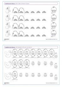 Graphisme de Pâques 14 fiches de graphisme sur le thème de Pâques, pour les élèves de maternelle (petite section, moyenne section et grande section). Plusieurs notions travaillées, telles que les lignes verticales, les lignes obliques, les spirales, les ponts, les pics, les ronds, les points...