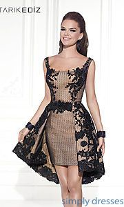 Buy Short Square Neck Dress by Tarik Ediz at SimplyDresses