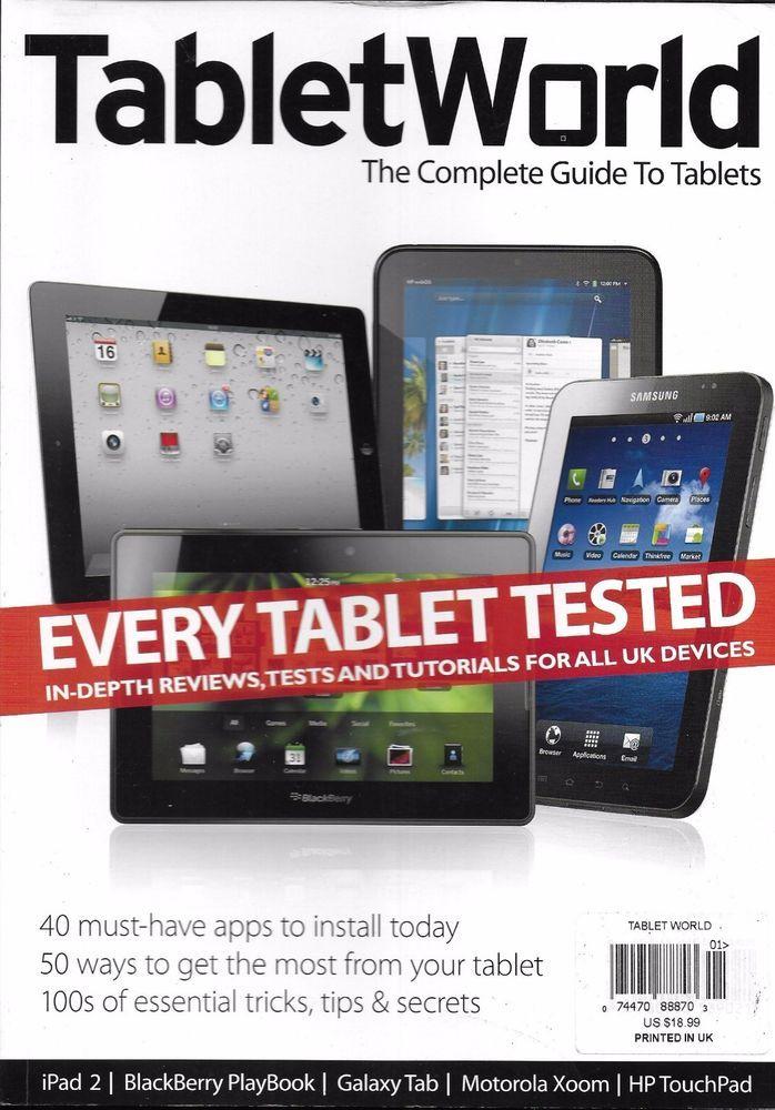 Tablet World magazine iPad BlackBerry Playbook Galaxy Tab Motorola Xoom Touchpad