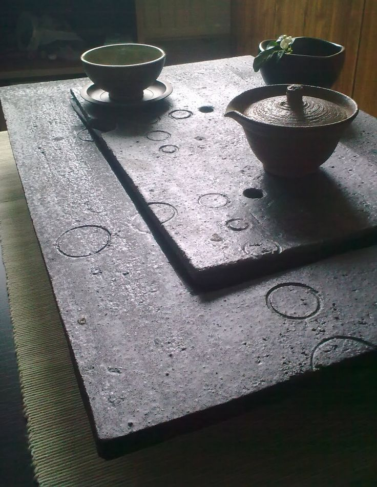 Poetry in Tea: Wood-fired Ceramic Tea Tray by Mirka Randová