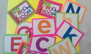 Free BOOM BOOM! game to practice letter recognition. Based on the children's book Chicka Chicka Boom Boom
