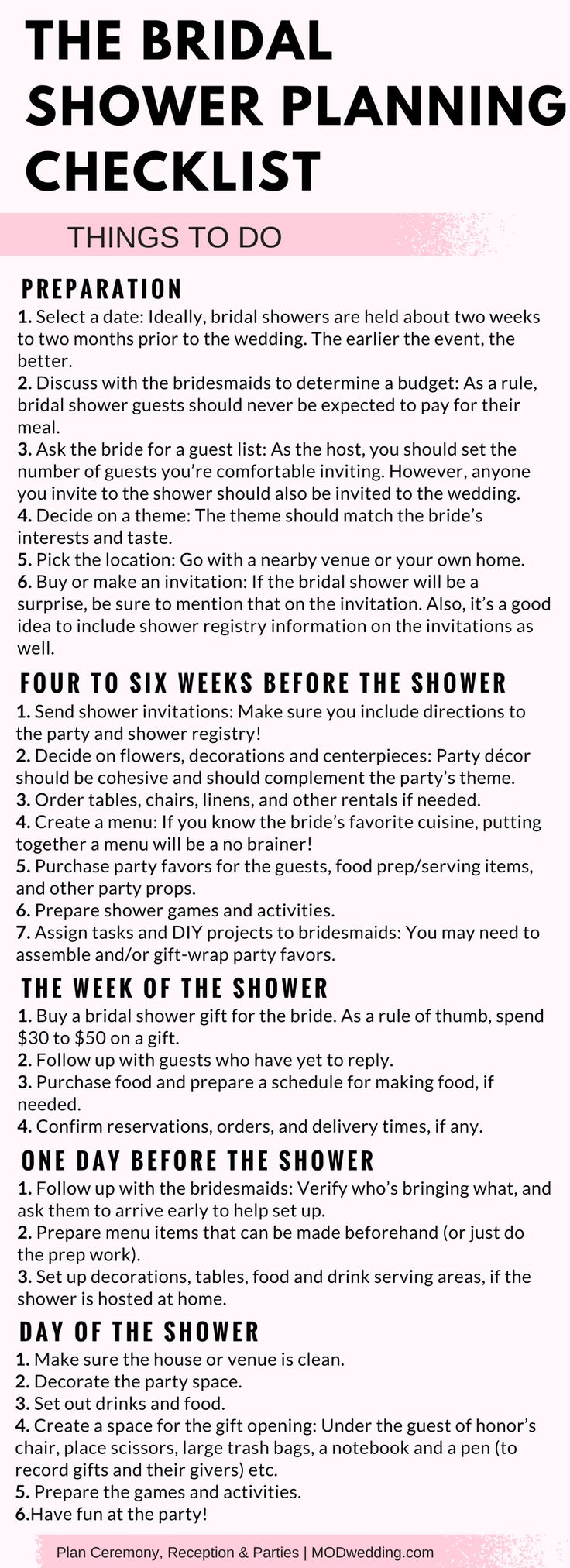 Tactueux image with regard to bridal shower checklist printable