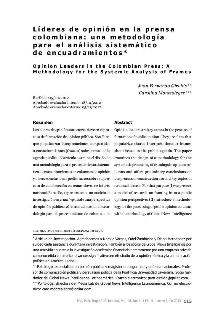 metodologa-para-el-encuadramiento by GNIMediaLab via Slideshare