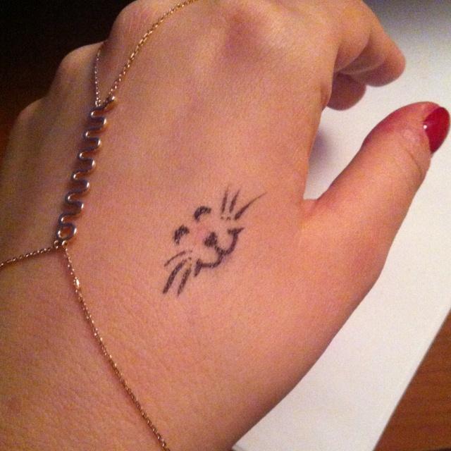 My fake kitty tattoo :)