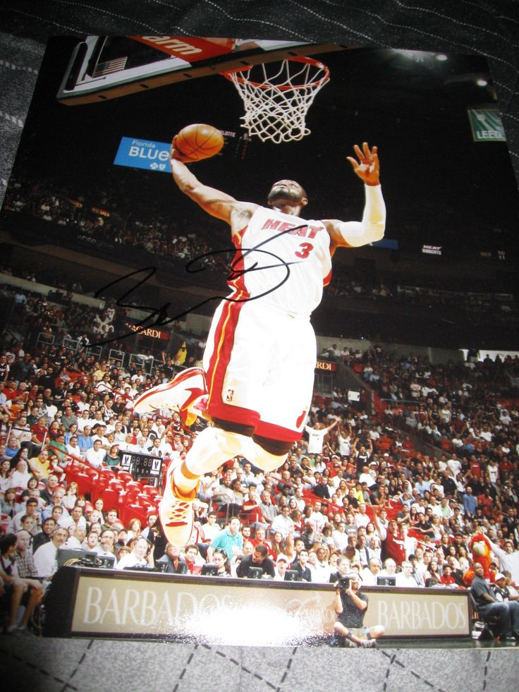 DWYANE WADE SIGNED AUTOGRAPH 1114 PHOTO MIAMI HEAT NBA CHAMPIONS IN PERSON H