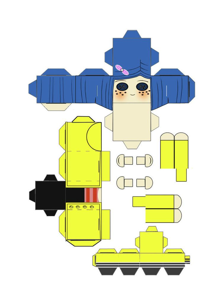 neil gaiman u0026 39 s coraline cubeecraft template by scarykurt on