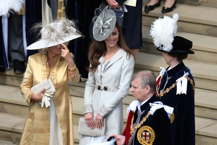 6/13/2011: Order of the Garter service, with Camilla, Duchess of Cornwall, Prince Andrew, & Princess Anne (Windsor, Berkshire)