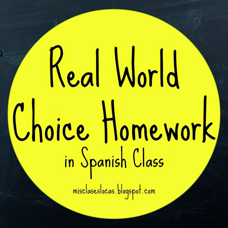 I adore this! Esp. Twitter & Instagram usage.... Mis Clases Locas: Choice Homework in Spanish Class