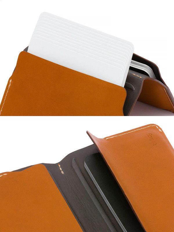 Bellroy caramel card holder in genuine leather