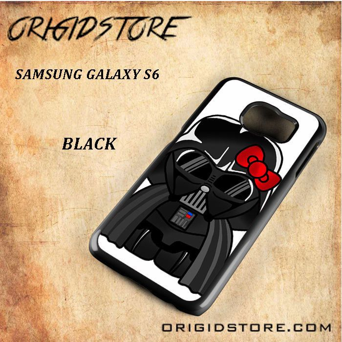 Anakin Skywalker Darth Vader Hello Kitty Star Wars Black White Snap On 3D For Samsung Galaxy S6 Case