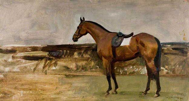 A Bay Horse in a Landscape Alfred Munnings