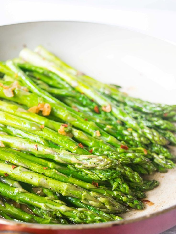An easy 15 minute sauteed asparagus recipe that will transform asparagus to a gourmet side! This impressive side dish is perfect for busy weeknights or to serve guests.   thelastcookie.ca