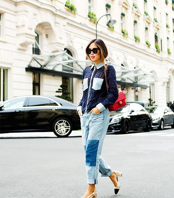 Aimee Song of Song of Style As a classic California girl, Song pairsfall trends with warm-weather practicality.