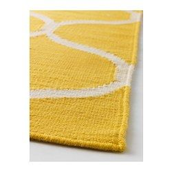 STOCKHOLM Rug, flatwoven, net pattern, yellow $199.00	 Article Number:  102.290.35 The durable, soil-resistant wool surface makes this ...
