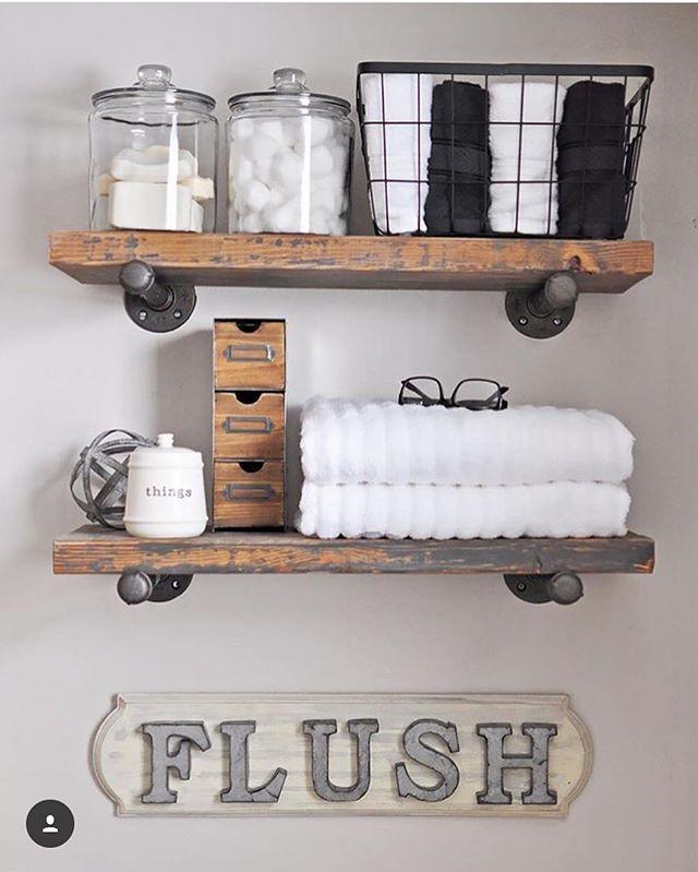 open shelving in bathroom decor
