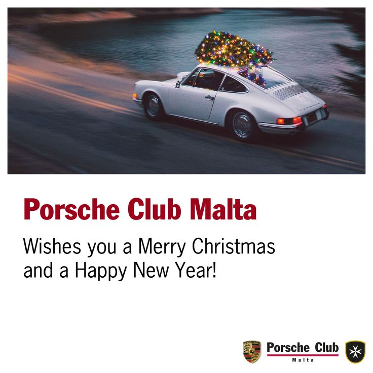 Porsche Club Malta wishes you a Merry Christmas and a Happy New Year!  #Christmas #PCM #Porsche #Club #Malta