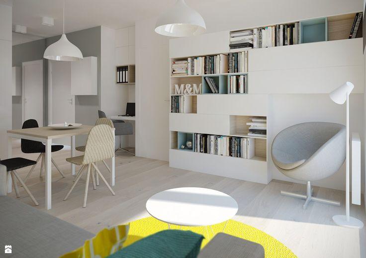Salon z aneksem kuchennym - zdjęcie od Mohav Design - Salon - Styl Skandynawski - Mohav Design