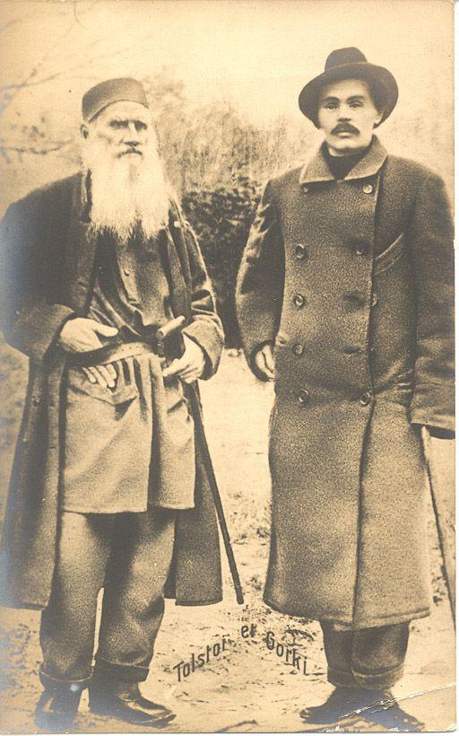 Leo Tolstoy and Maxim Gorky.