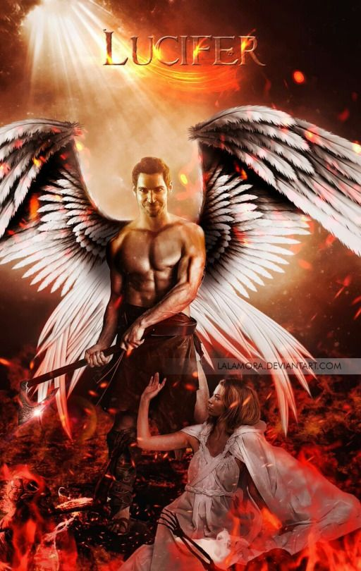 Lucifer I love this picture of the them. He really looks beautiful with the wings and the sword.  https://m.facebook.com/tomellisisthe1/