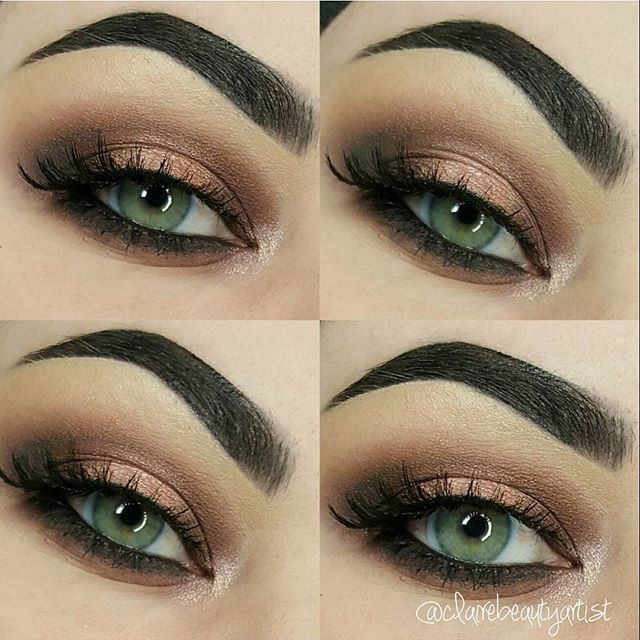Neutral toned smokey eye with the perfect cat eye