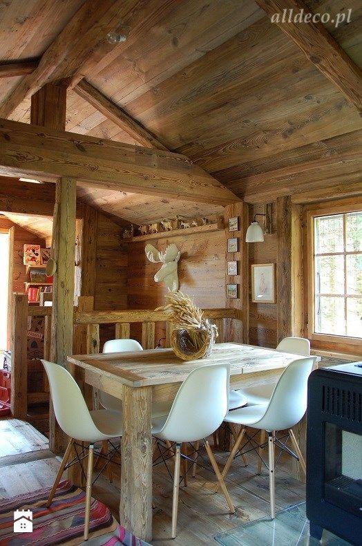 stół ze starej deski podłogowej - zdjęcie od Alldeco Sp. z o.o. - Jadalnia - Styl Rustykalny - Alldeco Sp. z o.o.