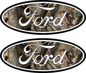 2 Camouflage Ford Emblem Decal 04 11 Ranger Excursion F250
