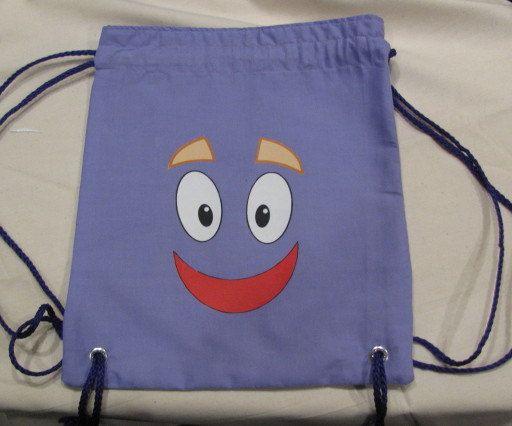 Dora the Explorer Face Backpack Party Favor Bag by designsbyLH. , via Etsy.