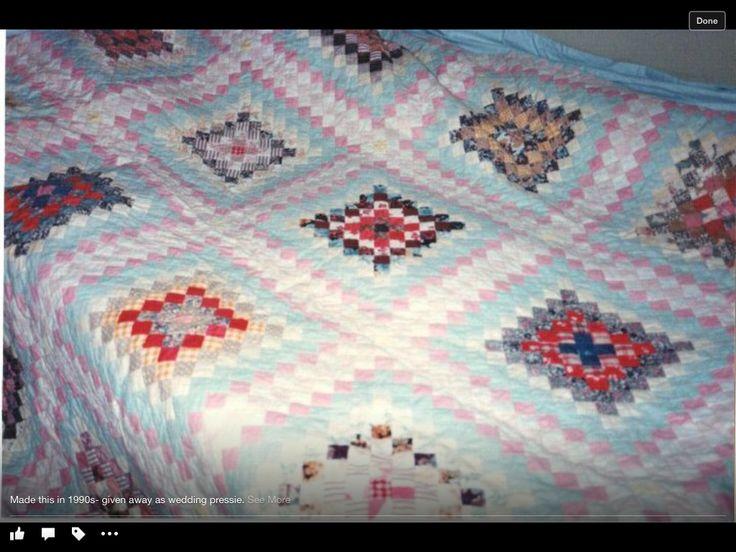 Postage stamp bedspread