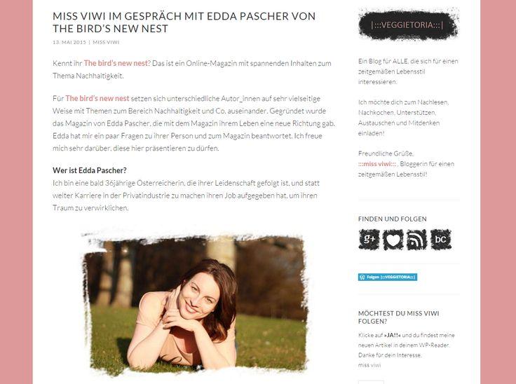 """""""Was bedeutet Nachhaltigkeit für dich?"""" Nach meinemAusflug zu Print mit dem Porträt im Wiener Journal,durfte..."""