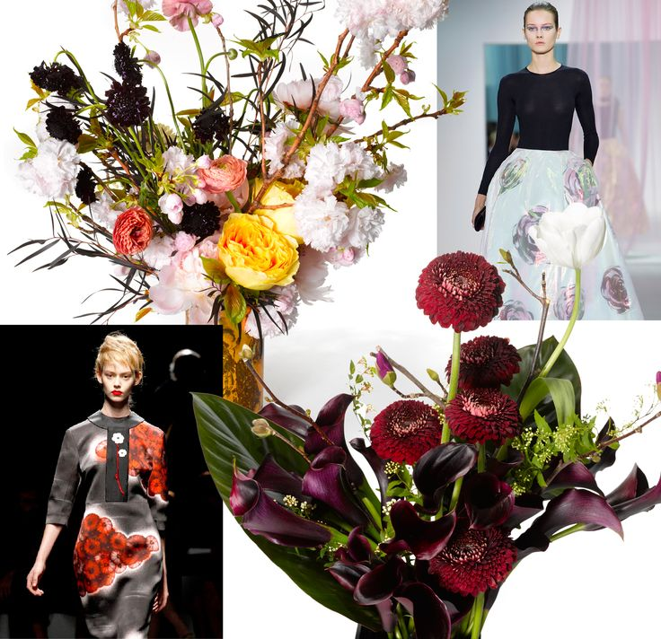 To savor the flowers that make each dress a passing garden, florists create an arrangement inspired by a look from the spring collections.