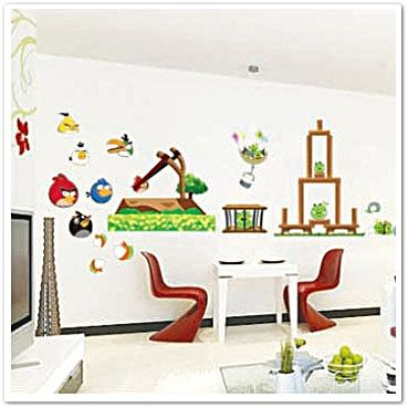 70 best images about angry birds blue and gold banquet on for Angry bird wall mural