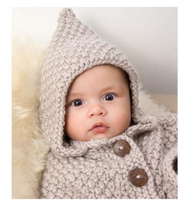 Modèle cape à capuche - Modèles tricot layette - Phildar