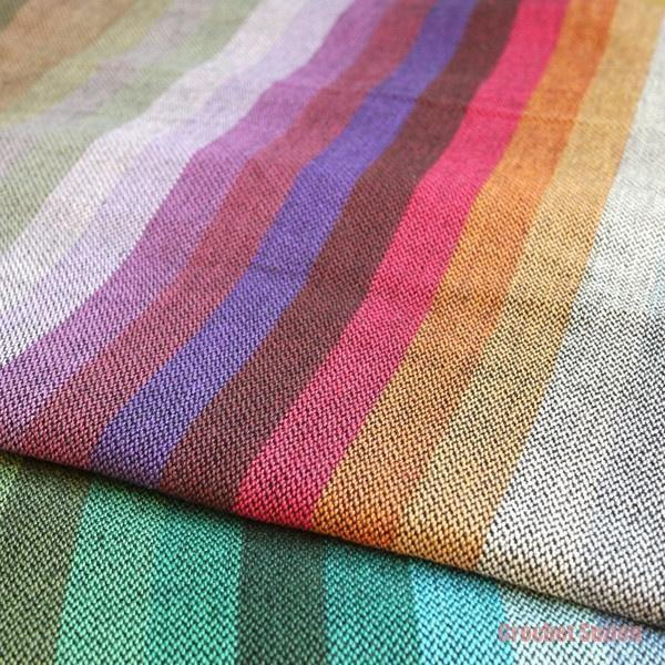 Girasol Amitola Black Weft Woven Wrap Crochets