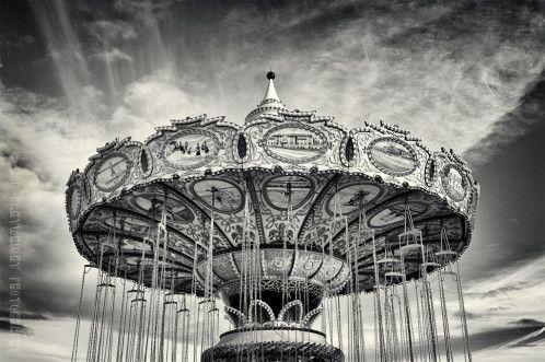 Santa Cruz California CA America amusement park fairground Carousel beach coast USA US united states travel roadtrip nikon D40 sky clouds ph...
