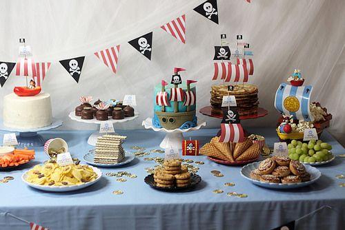 pirate dessert table by sockerrus, via Flickr