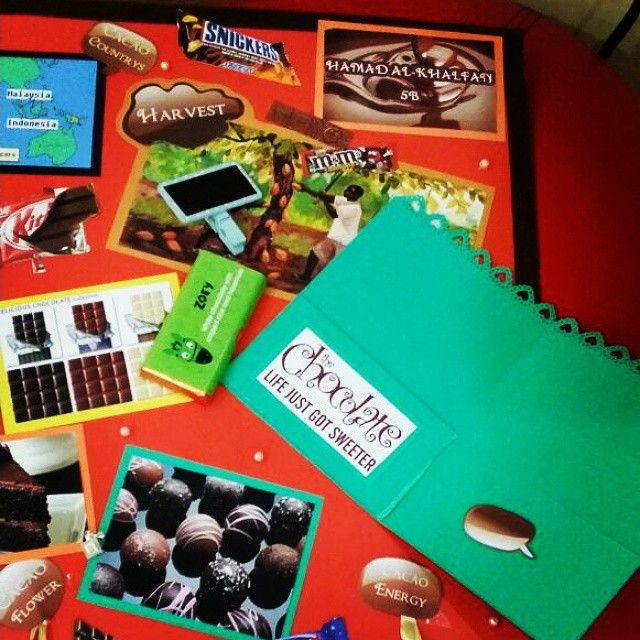 Chocolate Board For School 8 Project Price 20kd Projects Chocolate Sweet